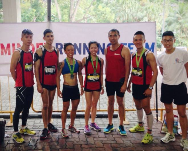 Team MINDEF at CSC Run by the Bay '14