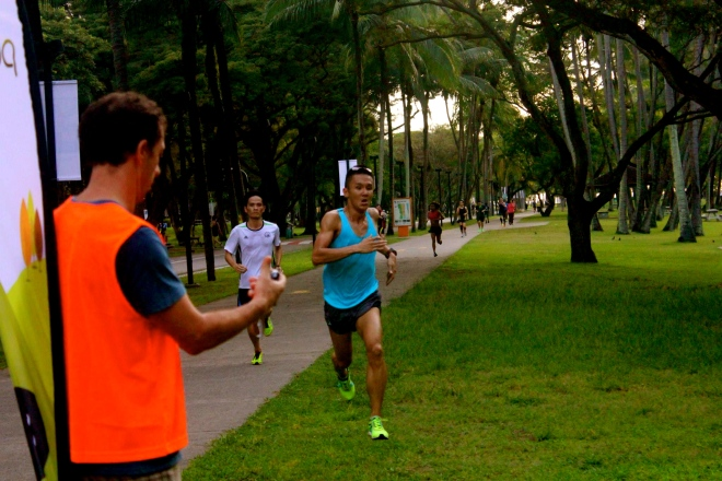 """storming down the finish for a 5k PB - 18'46"""""""