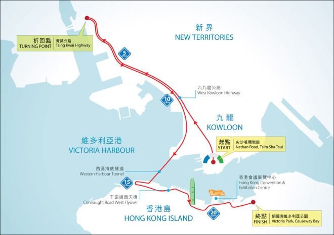 SCHKM 21.1km HM race map