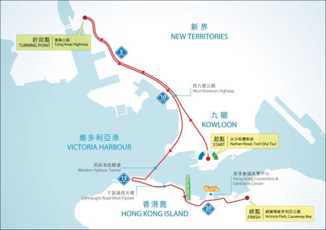 SCHKM 21.1km HM race map